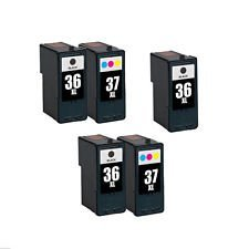 INKTONER 5 Pack Combo Lexmark 36XL 37XL Ink Cartridge for Le