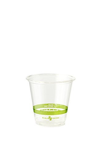 World Centric Compostable 3-Ounce Clear Cold Cup (Case of 2,500cups)