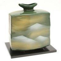 Kotobuki Japanese Vase:7''H Kutani Red-Crowned Cranes #510-551
