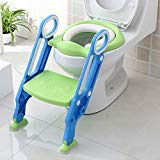 Potty Toddler Toilet Training Seat with Sturdy Non-Slip Ladder Step, Potty Toilet Trainer Seat with Step Stool Ladder: more info