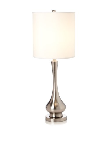 picture of Greenwich Lighting Camden Table Lamp, Brushed Nickel