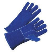 7344 Leather Welding Gloves, Leather, Large, Blue (36 Pack)
