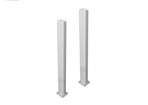 Zippity Outdoor Products ZP19011 Galvanized Steel Surface Mount for Vinyl Posts (2 (2 Post Kit)