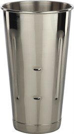 Libertyware Stainless Steel Malt Milkshake Ice Cream Mixer Mixing Cup, 30 oz.