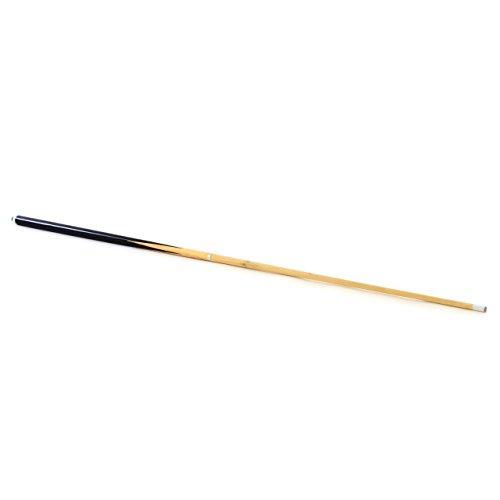 Queue für Billard Snooker Pool aus Holz geteilt 2 Stücke 146,5 cm 57,7 Zoll mit Gummipuffer und Leder Ø 12 mm