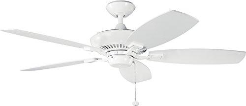 52' Canfield Fan - Kichler 300117WH 52-Inch Canfield Fan, White