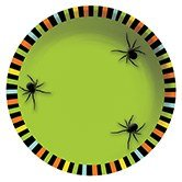 Club Pack of 12 Creepy Crawly Spider Halloween Snack Size Party Serving Bowls -