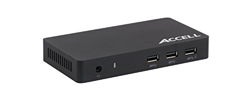 Accell Universal Laptop Docking Station - USB 3.0 to 4K UHD DisplayPort, HDMI, 3x USB-A 3.0, for Mac or Windows by Accell