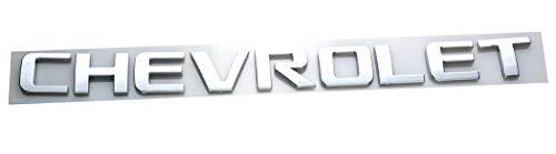 Aimoll 1x Chevrolet Nameplate Emblem Badge Glossy Replacement for Chevrolet Gm 2500HD 3500HD Silverado Sierra (Chrome)