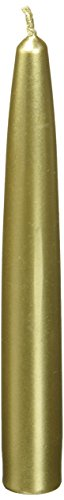 Zest Candle 12-Piece Taper Candles, 6-Inch, Metallic ()