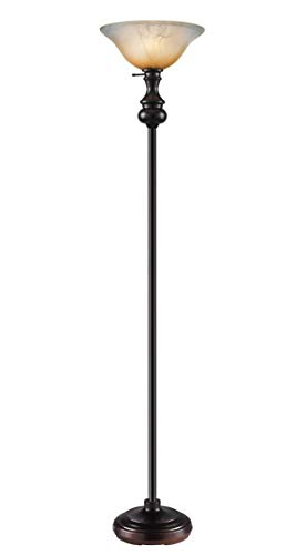 Oneach Modern Sharon Torchiere Floor Lamp 150-Watt 71.75-Inch Floor Light with Frosted Glass Shade for Reading Living Room and Bedroom,Oil Rubbed Bronze