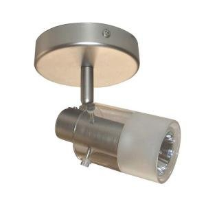1 Light Brushed Steel Ceiling 6.5''h x 4.53''w Brushed Steel