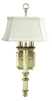 Brass Backplate 4in Polished (House Of Troy WL616-PB 19-Inch 2-Light Glass Wall Sconce, Polished Brass)