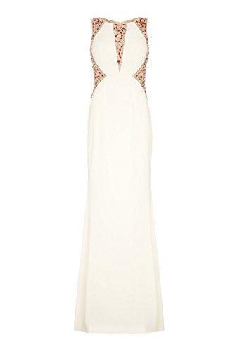 1012822 Paloma Rot rot Dynasty Kleid Damen weiß Stil Schal lange ohne Weiß zq5wHPtHn