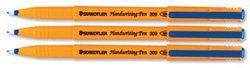 Staedtler 309 Handwriting Pen Fibre Tipped 0.8mm Tip 0.6mm Line Blue Ref 309-3 Pack 10
