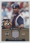 2005 Upper Deck Portraits - Victor Martinez #12/15 (Baseball Card) 2005 Upper Deck Portraits - [Base] - Gold Jersey [Memorabilia] #35