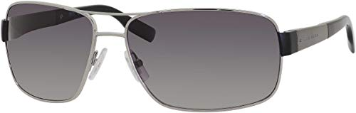 BOSS by Hugo Boss Men's Boss 0521/s Polarized Wrap, Ruthenium, 64 mm
