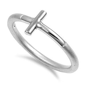 Cute Jewelry Gift for Women in Gift Box Cross Glitzs Jewels 925 Sterling Silver Ring