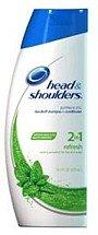 Head & Shoulders Men Shampoo + Conditioner, Dandruff, Refresh, 14.2 oz