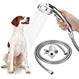 Star Factory Pet Dog Shower Sprayer Attachment for Pet Bathing and Dog Washing, Handheld Shower with Shower Arm Diverter and 6.5 Foot Hose, Quick Connect to Shower Head