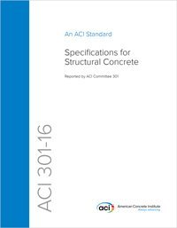 301-16: Specifications for Structural Concrete