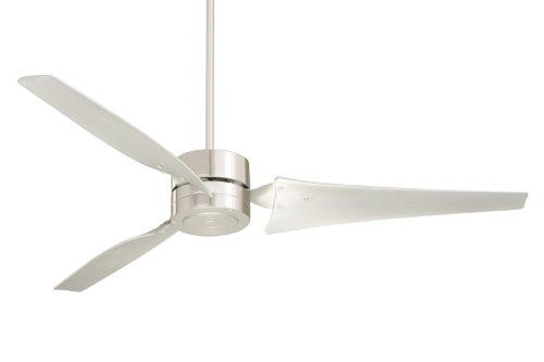 Emerson HF1160BS Industrial Fan, Indoor Ceiling Fan, 60-Inch Blade Span, Brushed Steel Finish, Brushed Steel Blades
