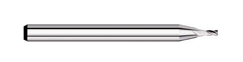 Titan TC50217 Solid Carbide End Mill Uncoated 0.125 Shank Diameter 30 degree Angle Helix 0.005 Corner Radius Corner Radius 0.035 Size Stub Length 4 Flute 0.053 Length of Cut 1-1//2 Overall Length