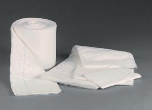 TIDI 979560 Non-Sterile Non-Absorbent Abdominal Pad, 60' Length, 8'' Width (Pack of 12)