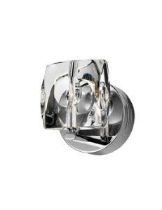 - ET2 E30501-20 Neo 1-Light Wall Sconce, Polished Chrome Finish, Crystal Glass, 12V G4 Xenon Bulb, 40W Max., Dry Safety Rated, 3000K Color Temp., Standard Triac/Lutron or Leviton Dimmable, Bubble Glass Shade Material, 1190 Rated Lumens