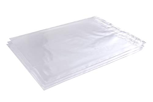 Bag 100 Poly (Wowfit 100 CT 12x18 1 Mil Clear Plastic Flat Open Poly Bags)