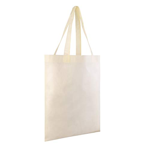 Gifts Convention - 25 PACK - Wholesale Non-Woven Tote Bags, Convention Bags, Promotional Bags, NTB10 (NATURAL)