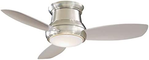 Minka-Aire F518L-BN Concept II LED Brushed Nickel 44″ Flush Mount Ceiling Fan