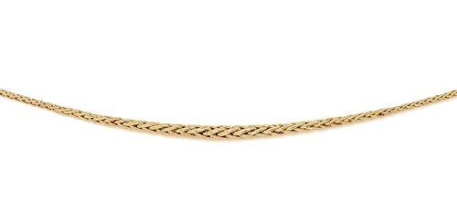 DIAMANTLY Collier or 750 en chute palmier creux 3.5 mm - 42 cm