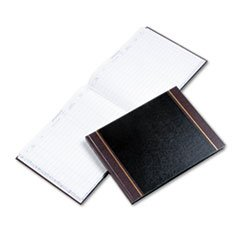 Detailed Visitor Register Book, Black Cover, 208 Pages, 9 1/2 X 12 1/2 By: Wilson Jones
