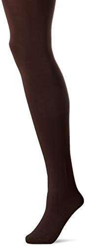 HUE Women's Blackout Tights with Control Top, Assorted, Espresso, ()