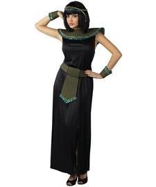 [Black/Gold Cleopatra Adult Costume] (Arabian Costumes For Women)