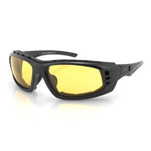 4003377 Bobster Chamber Sunglasses-Black Frame with Yellow Lenses