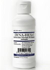 Xttrium Labs Inc 1061DYN04VA Dyna Hex Scrub 4% 4oz 48/Ca