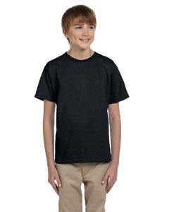 Hanes Youth 50/50 Short Sleeve T-Shirt, Black, X-Large