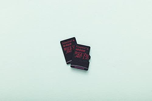 Kingston Canvas React 128GB microSDXC Class 10 microSD Memory Card UHS-I 100MB/s R Flash Memory High Speed microSD Card with Adapter (SDCR/128GB)