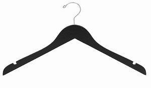 Amazoncom Only Hangers Premium Quality Black Wooden Hangers Pack