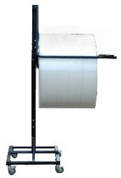 12'' Telescoping Single Arm Bubble Wrap® & Foam Roll Floor Unit Dispenser w/ Casters & Slide Cutter by FastPack Packaging