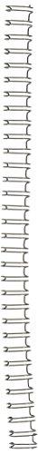 GBC WireBind Binding Spines / Spirals, 3:1 Pitch, 3/8