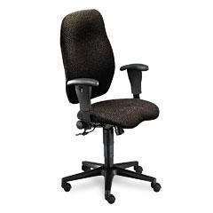 Hon Executive Upholstered Guest Chairs - HON 7803NT10T 7800 Series High-Back Executive/Task Chair, Tectonic Black