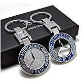 J.MOSUYA 2Pack 3D Mercedes Benz Keychain Accessories Car Key Chain Zinc Alloy