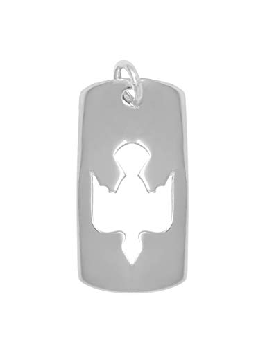 (Raposa Elegance Sterling Silver Cut Out Dove Tag Charm (approximately 23 mm x 11.5 mm))