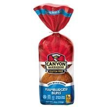Canyon Bakehouse Gluten Free Hamburger Buns, 12 Ounce - 6 per case. - Whole Wheat Hamburger Buns