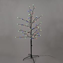 Kurt Adler Multi Twinkle LED Brown Gumball Tree, 4-Feet (Metal Gumdrop Tree)