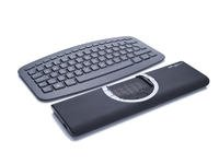 Mousetrapper Flexible Portable Ergonomic USB Wireless Trackpad with 10 Customizable Macro Keys for Mac or PC - Black (New Model)