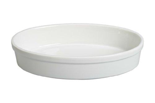 Oval Oven Safe Gratin Dish - BIA Cordon Bleu 904858 Porcelain Oval Baking Dish, 15-Inch, White